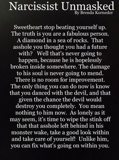 It's not your fault that you fell for a narcissist. Forgive yourself. He's the one who lost.